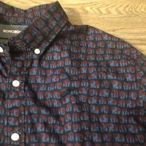 Bonobos L Panda Button Down Shirt